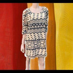 Charlotte Russe Knee Length Printed Shift Dress